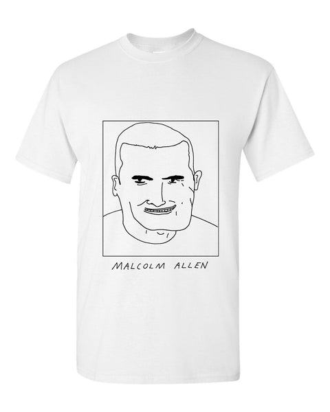 Badly Drawn Malcolm Allen T-shirt - 1994 Newcastle