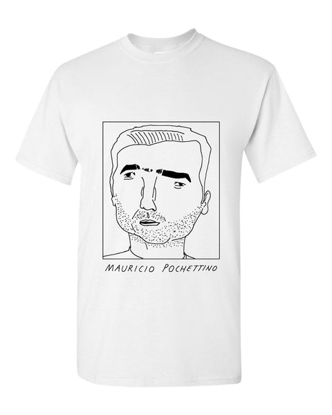 Badly Drawn Mauricio Pochettino T-shirt - Tottenham Hotspur FC