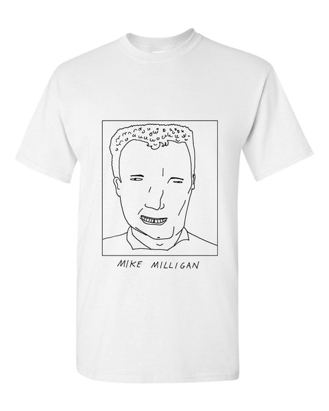 Badly Drawn Mike Milligan T-shirt - 1994 Oldham