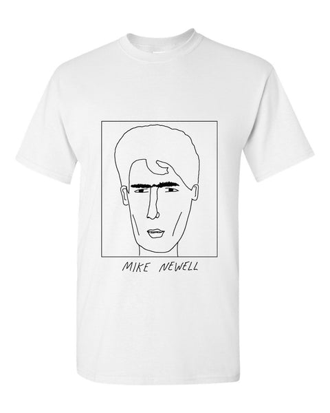 Badly Drawn Mike Newell T-shirt - 1994 Blackburn Rovers