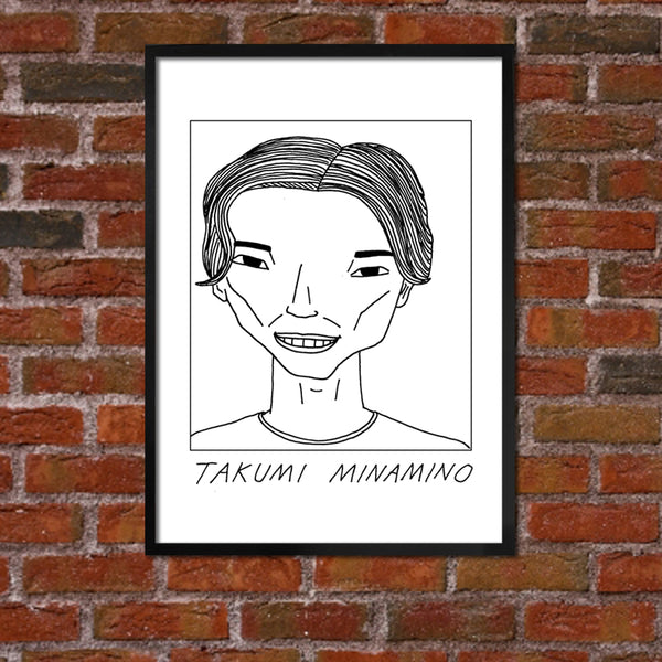 Badly Drawn Takumi Minamino - Liverpool F.C. Premier League Champions - Poster