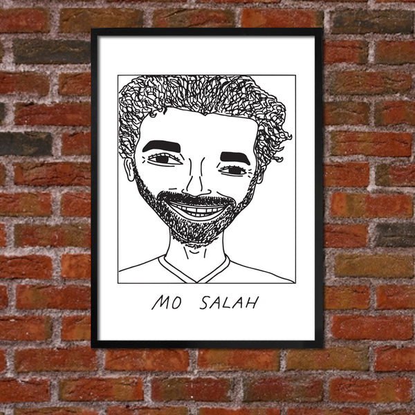 Badly Drawn Mo Salah - Liverpool F.C. Premier League Champions - Poster