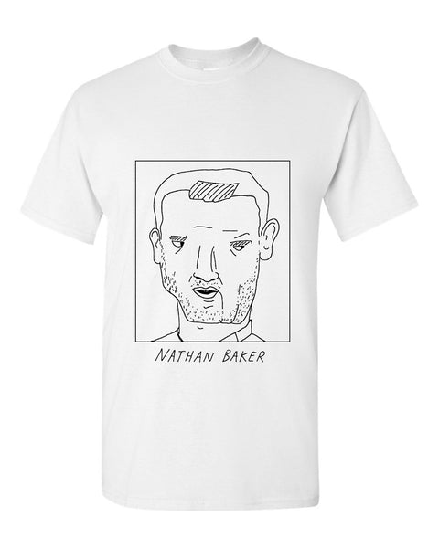 Badly Drawn Nathan Baker T-shirt - Bristol City FC