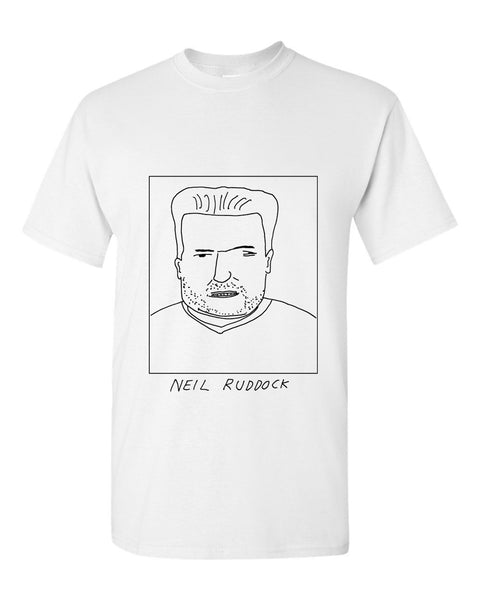 Badly Drawn Neil Ruddock T-shirt - 1994 Liverpool FC