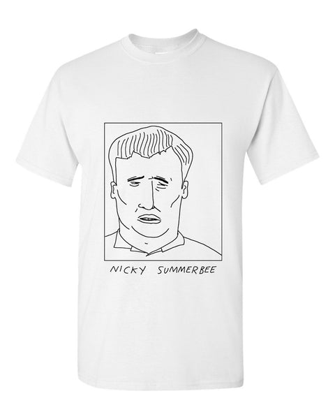 Badly Drawn Nicky Summerbee T-shirt - 1994 Swindon