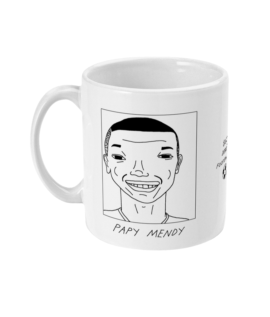 Badly Drawn Footballers Mug - Papy Mendy