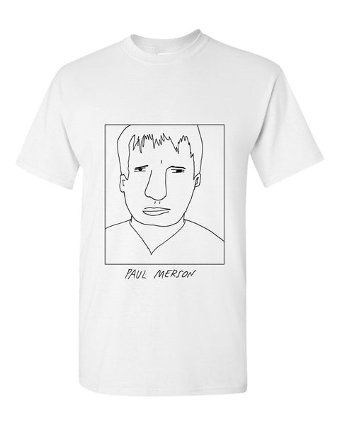 Badly Drawn Paul Merson T-shirt - 1994 Arsenal FC