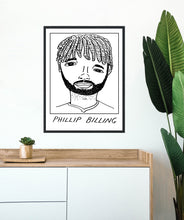 Load image into Gallery viewer, Badly Drawn Footballers - Phillip Billing - Poster - 3 FOR 2