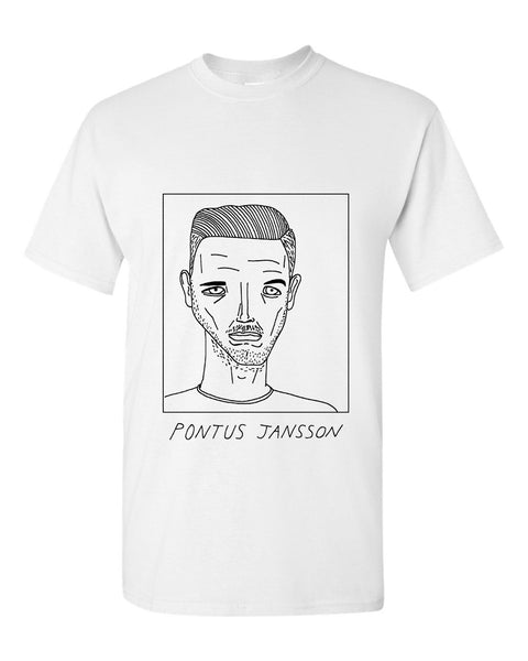 Badly Drawn Pontus Jansson T-shirt - Leeds United FC