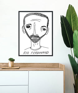 Badly Drawn Footballers - Rio Ferdinand - Poster - 3 FOR 2
