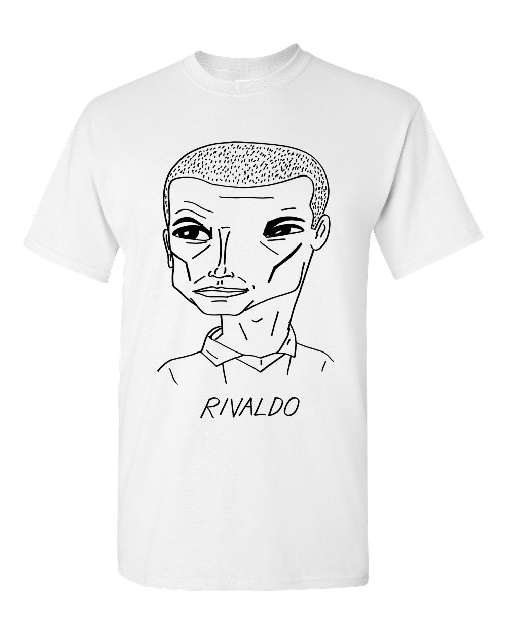 Badly Drawn Footballers T-shirt - Rivaldo