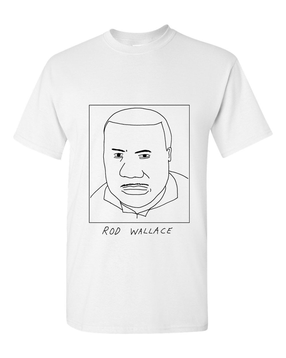 Badly Drawn Rod Wallace T-shirt - 1994 Leeds United