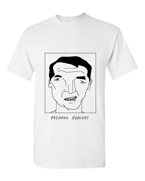 Badly Drawn Brendan Rodgers T-shirt - Leicester City FC