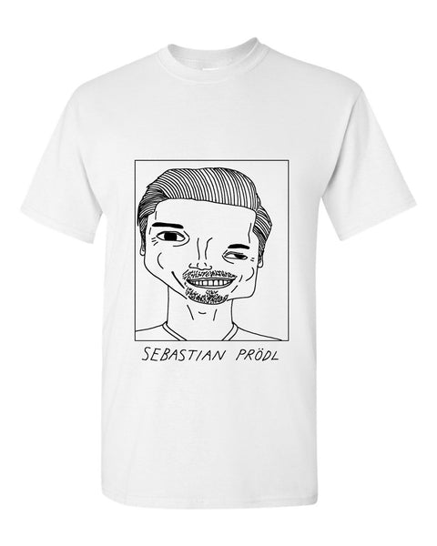 Badly Drawn Sebastian Prodl T-shirt - Watford FC
