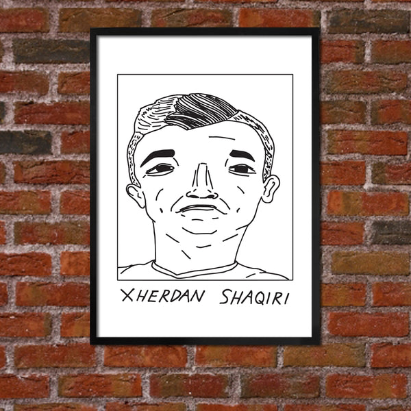 Badly Drawn Xherdan Shaqiri - Liverpool F.C. Premier League Champions - Poster