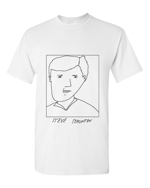 Badly Drawn Steve Staunton T-shirt - 1994 Aston Villa