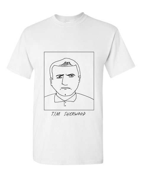 Badly Drawn Tim Sherwood T-shirt - 1994 Blackburn Rovers