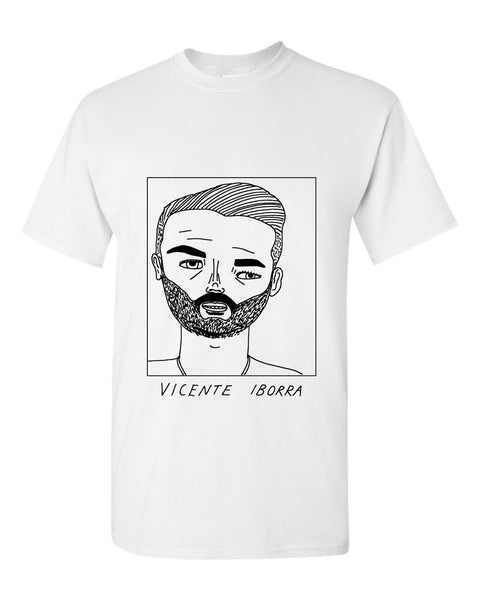Badly Drawn Vicente Iborra T-shirt - Leicester City FC