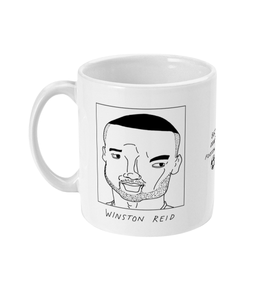 Badly Drawn Footballers Mug - Winston Reid