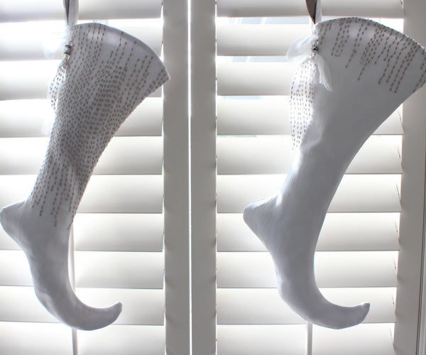 Dove Gray Couture Stocking