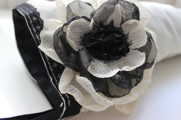 Black Lace  Couture Christmas Stocking