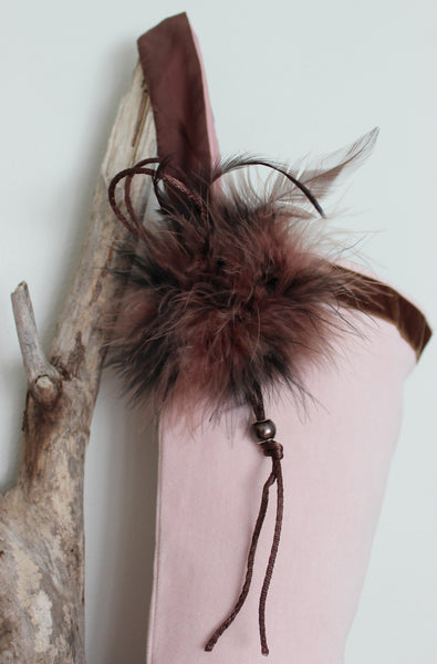Feather  Christmas Stocking