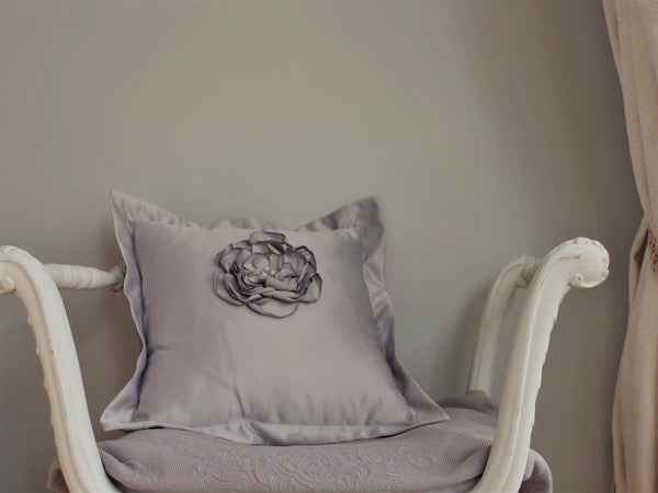 Florence - Silver Blue Cushion Cover