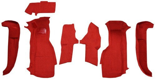 1994-1996 Chevrolet Corvette Front Set with Pad without Door Panels Flooring [Front]