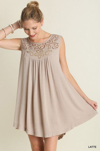 Lace Detail Tunic/Dress - Oh Deer Boutique