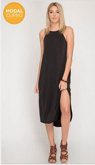 Side Slit Dress - Oh Deer Boutique
