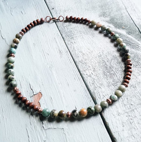 African Turquoise Necklace - Oh Deer Boutique