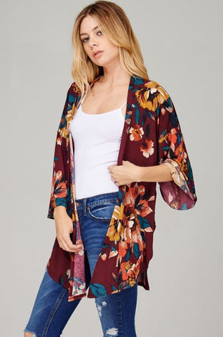 Fall Floral Cardigan - Oh Deer Boutique