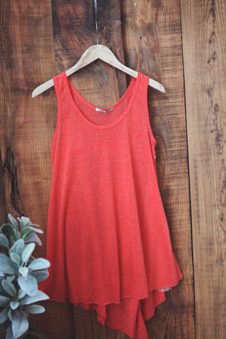 Asymmetrical Knit Tank - Oh Deer Boutique