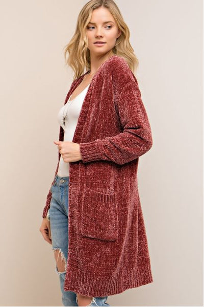 Dusty Rose Cardigan - Oh Deer Boutique