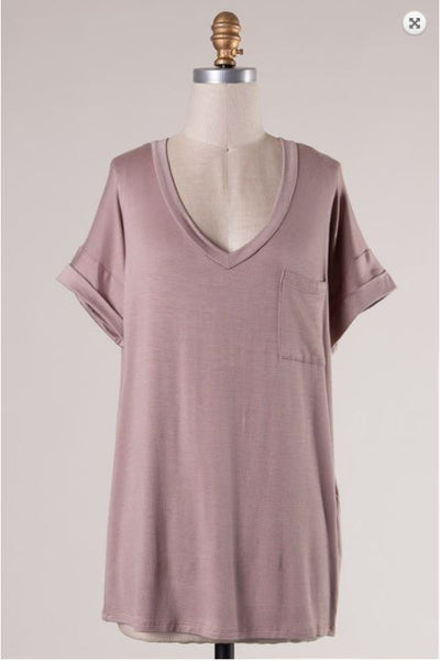 V Neck Tee - Oh Deer Boutique