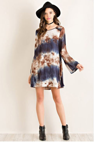 Tie Dye Shift Dress - Oh Deer Boutique