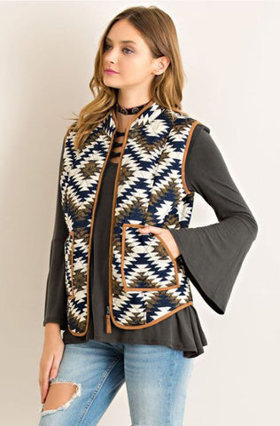 Tribal Vest - Oh Deer Boutique