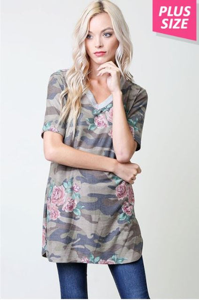 Camo Tee - Oh Deer Boutique
