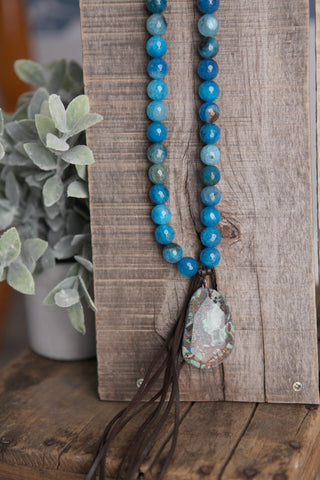 Agate Stone Necklace - Oh Deer Boutique
