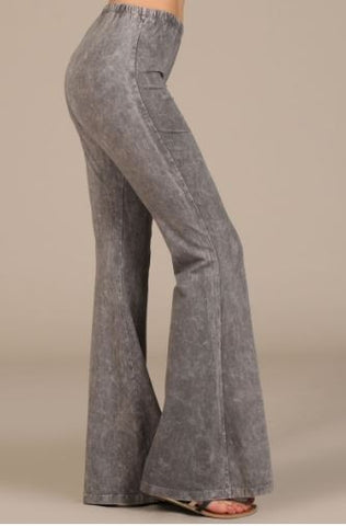 Grey Bell Bottom Legging - Oh Deer Boutique