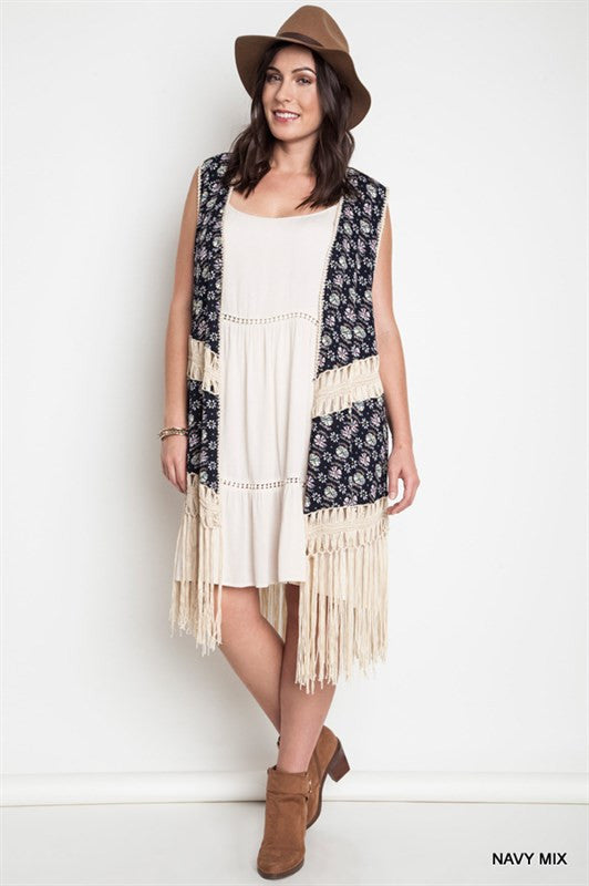 93ffe6a212e1 Printed Fringe Duster - Oh Deer Boutique ...