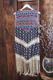 Printed Fringe Duster - Oh Deer Boutique