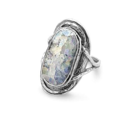 Oval Roman Glass Ring - Oh Deer Boutique