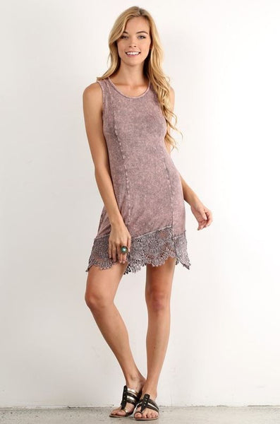 Mineral Wash Dress - Oh Deer Boutique