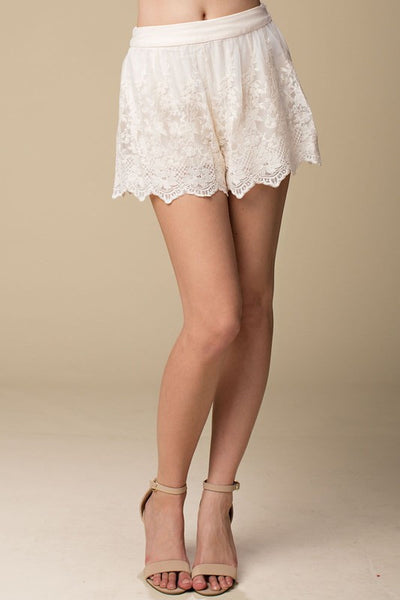 Floral Lace Shorts - Oh Deer Boutique