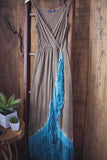 Fringe Maxi Dress - Oh Deer Boutique