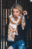 Camel Frayed Edge Scarf - Oh Deer Boutique