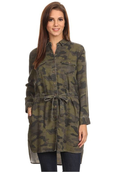 Camo Button Up - Oh Deer Boutique
