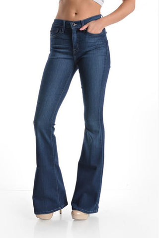 High Waist Flare Jeans - Oh Deer Boutique