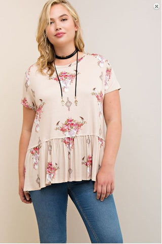 Skull Top - Oh Deer Boutique